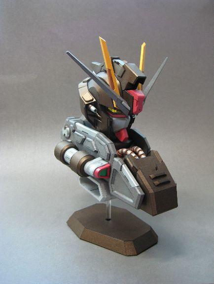 FULL DOWNLOAD: Papercraft [Black Gentle] GAT-X105E Strike Noir Gundam Bust. Info & Link