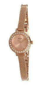 GUESS Rose Gold-Tone Petite And Feminine Watch GUESS. $98.55. water resistant. 10 year limited warranty. Womens jewelry. watch. analog function