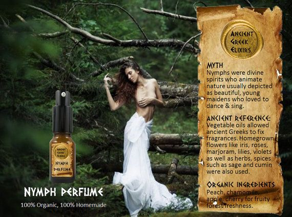 NYMPH organic perfume oil elixir 10ml by AncientGreekElixirs, €14.00