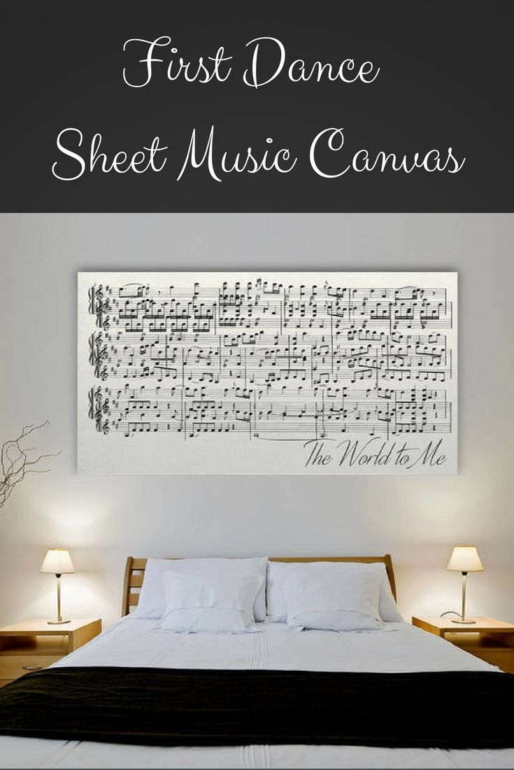 Etsy 1st Anniversary Gift, Sheet Music On Canvas, First Anniversary Gift For Her, Gift For Wife, #affiliate