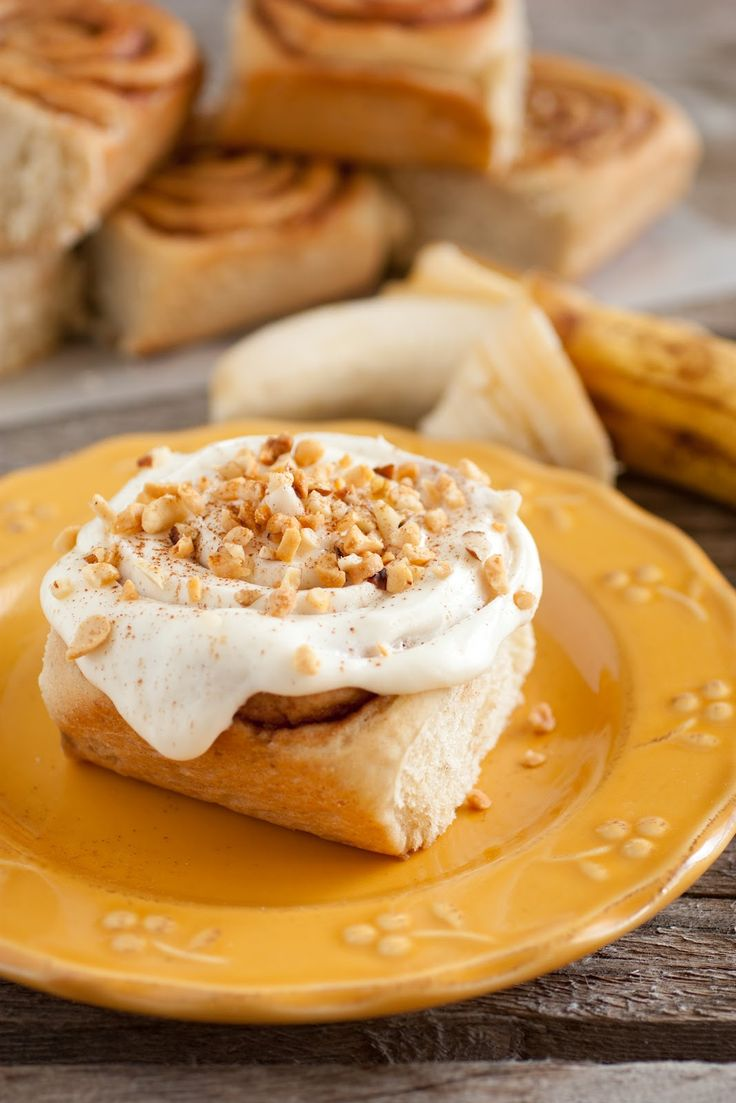 Banana Bread Cinnamon Rolls - Banana bread meets *cinnamon roll. *Warning: These contain yeast. But it's worth the rise time!!