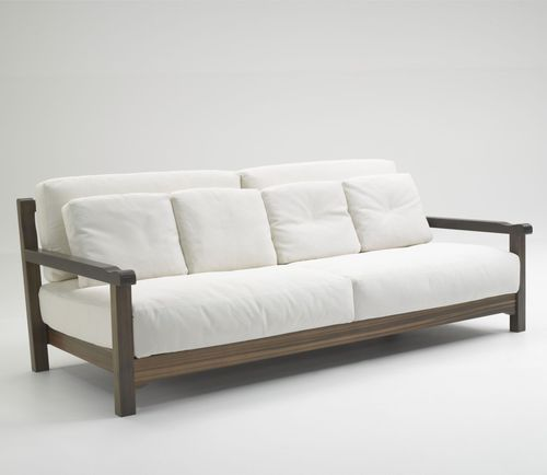 Wonderful Contemporary Wooden Sofa Set. Looks Awesomely Cozy And Quite Minimal.