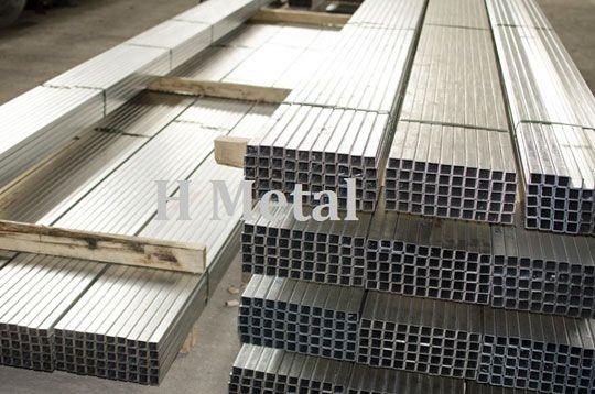 Teava patrata aluminiu