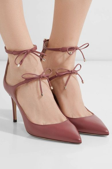 Heel measures approximately 85mm/ 3.5 inches Antique-rose leather Zip fastening along back Designer color: Ballet Pink Made in ItalySmall to size. See Size & Fit notes.