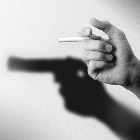 gun or cigarette