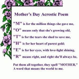 Funny Mothers day Poems for Son