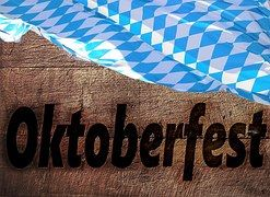 Holz, Oktoberfest, Fahne, Bayern