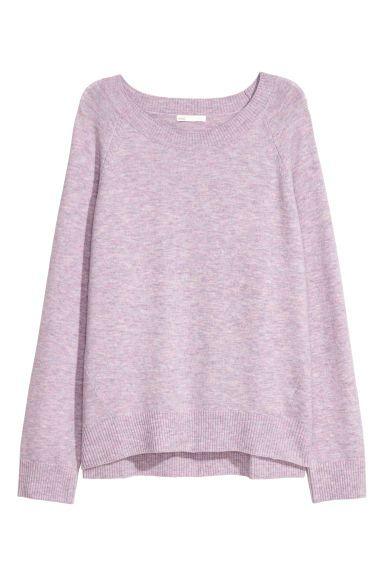 Jersey en mezcla de lana - Malva - MUJER | H&M ES