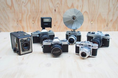 Vintage Camera Set for Hire. The Collection – Wedding and Event Vintage Prop Hire, Mornington Peninsula. See the thecollectionvintageprops.com.au for more details and prices. Contact kristy@ thecollectionvintageprops.com.au to book.