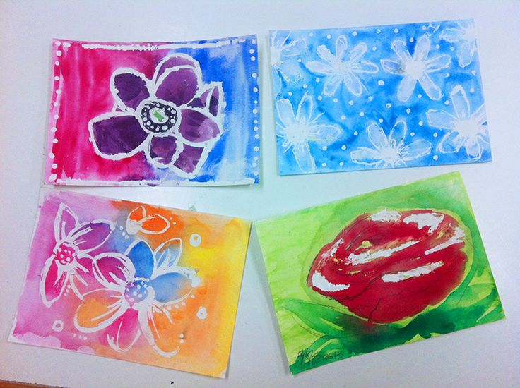 Watercolour with masking fluid - great results for kids art. www.artandco.com.au