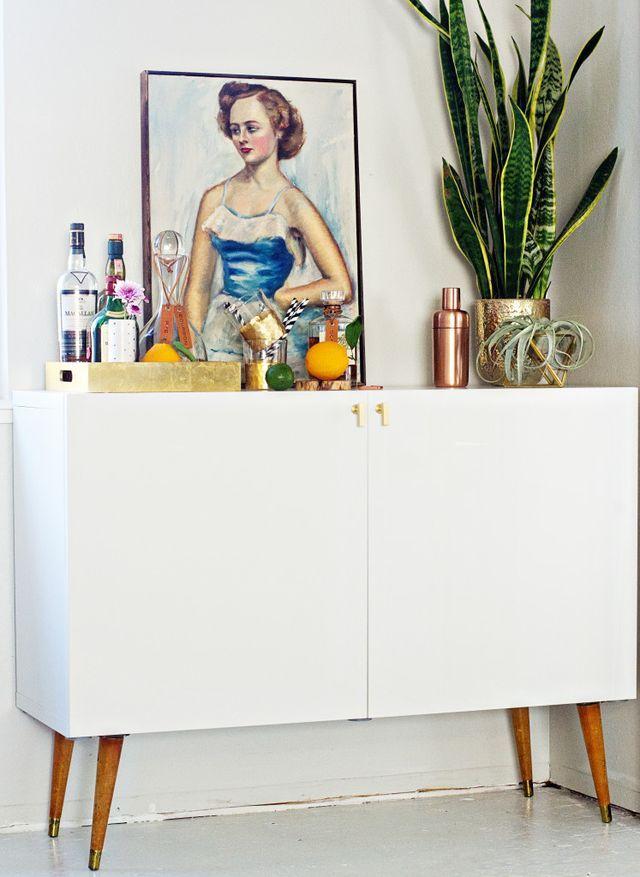 IKEA HACK: Mid Century Bar Cabinet (brittanyMakes)