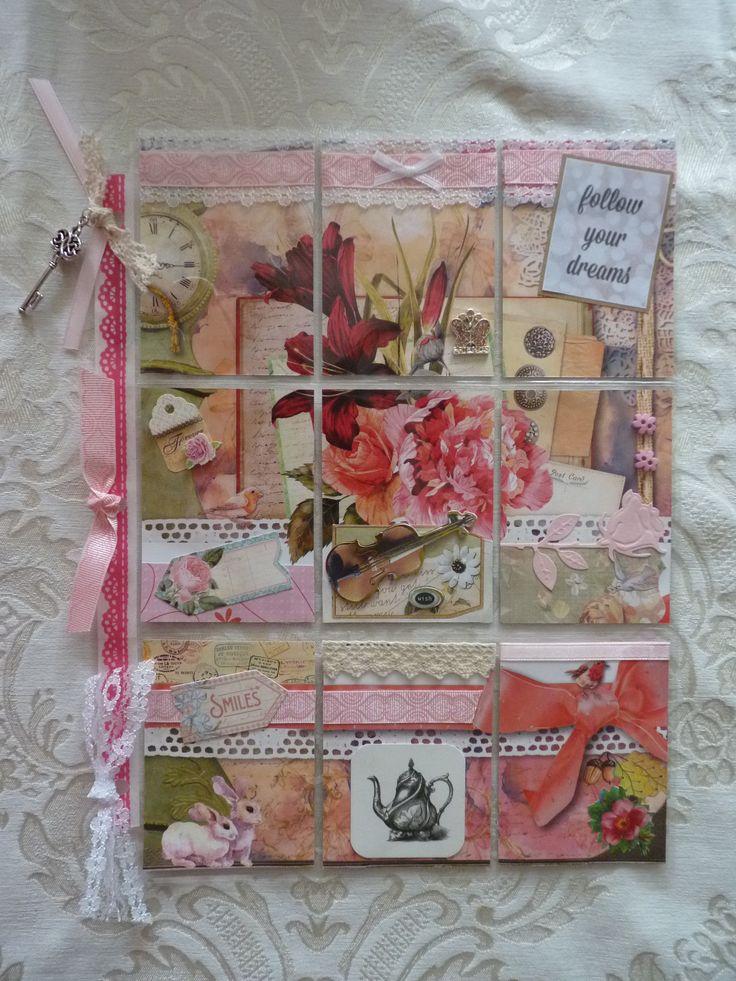 Mijn eerste pocket letter, gemaakt van het tijdschrift Daphne's Diary