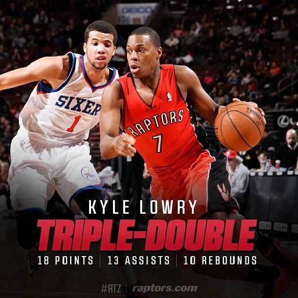 Career triple-double no. 4 tonight from a potential first-time #NBAAllStar In Kyle Lowry. #RTZ #NBA #Toronto
