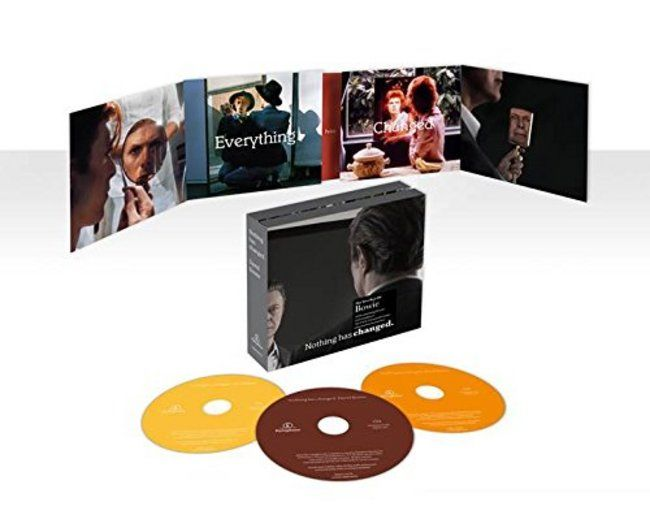 Today is the official release date of David Bowie's NOTHING HAS CHANGED, the definitive collection of his music from 1964 to 2014. It includes tracks from every phase of Bowie's career and the new single SUE (or IN A SEASON OF CRIME), which was recorded especially for NOTHING HAS CHANGED with longtime collaborator Tony Visconti. Available in both CD and vinyl from the MCA Store: http://www.mcachicagostore.org/all-products/browse/keyword/nothing-has-changed