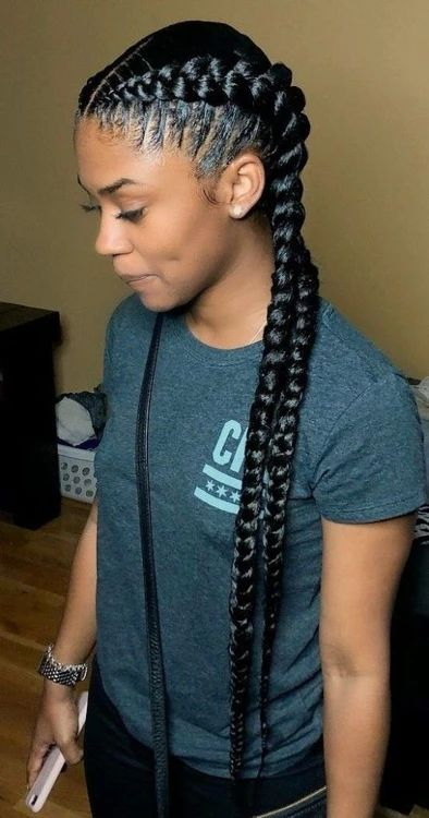 Pin by jayda on hairstyles ‍. in 2020 | Two braid hairstyles, Girls hairstyles braids, African ...