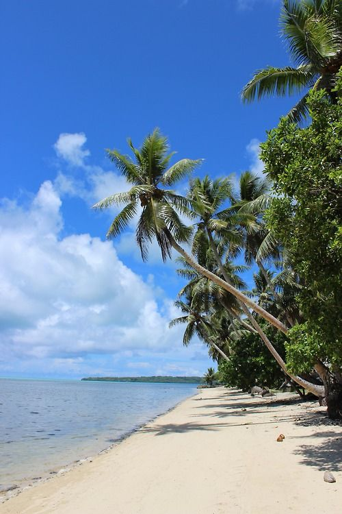 Beach in Maap, Yap Island, Federated States of Micronesia