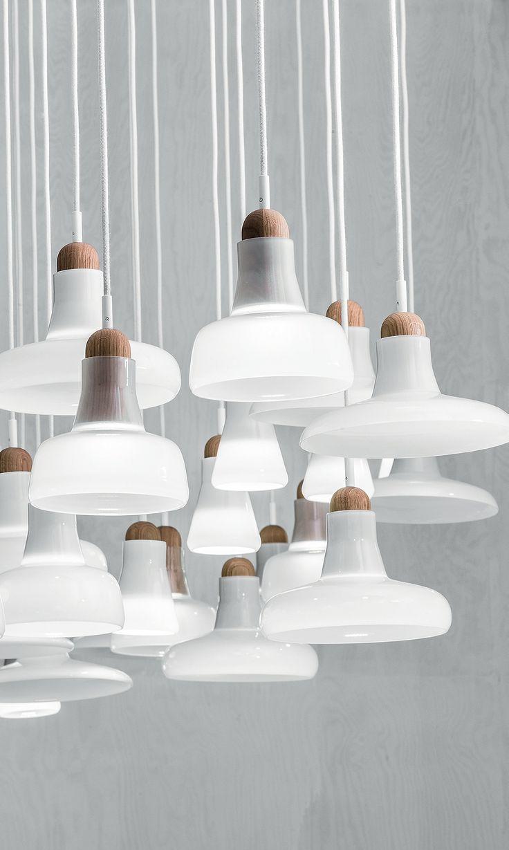 "Lighting Design // small glass pendant lights, ""Shadows"" by Brokis"