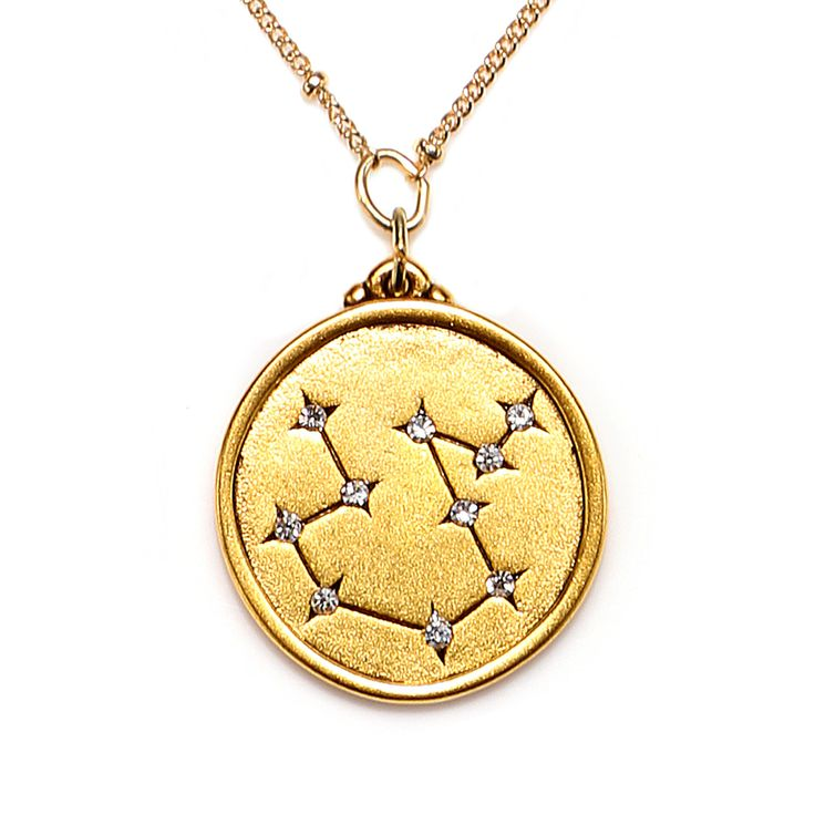 Selected as one of Oprah's Favorite Things! AQUARIUS Jan 20 - Feb 18 Humanitarian, visionary, individualistic, and innovative, especially in the sciences and digital realm. This Star Maps Necklace fea