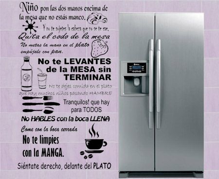 100 ideas to try about frases para decorar paredes - Vinilos puerta cocina ...