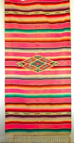 Image Detail For  Saltillo Serape Vintage Mexican Blanket Very Rare Pink  Color | VandM .