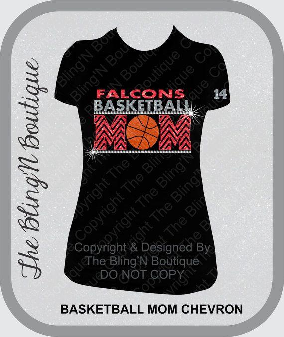Basketball Mom Chevron Custom Number Glitter and  Rhinestone Shirt, Basketball Mom Shirts, Bling Basketball Mom Shirts
