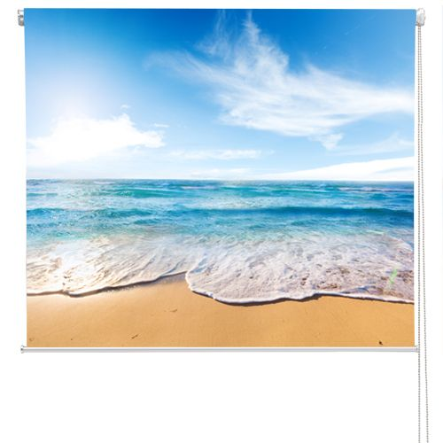 RB53+-+Beach+and+sea+tropical+scene+photo+roller+blind, £58.00