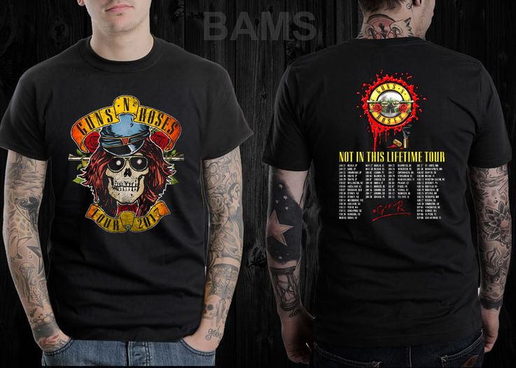 T SHIRT-GUNS N ROSES- NOT IN THIS LIFE TIME- TOUR CONCERT 2017   #Handmade #GraphicTee
