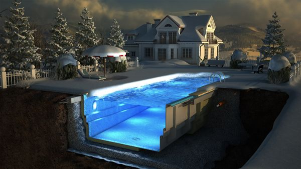 Composite Pools: Promotional Illustrations by Aleksei Segodin, via Behance