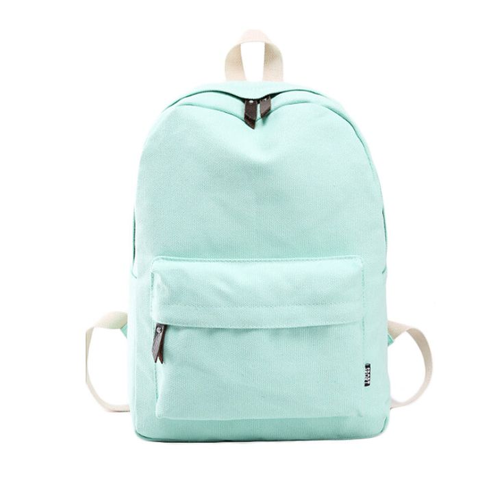 Simple Solid-Colored Lightweight Good Quality Durable Oversize Backpack 8 Colors