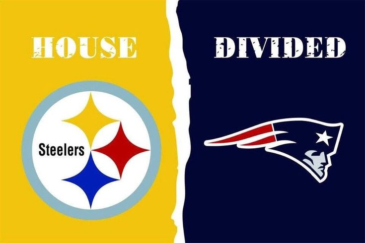 $11.99 NFL Pittsburgh Steelers New England Patriots House Divided Flag 3 x 5 ft, 2 Grommets, 30+ Football Team Options, Rivalry Banner  #collectibles #birthday #valentinesday #blue #patriots #steelers #tombrady #goat