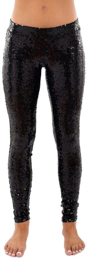 Tipsy Elves Black Sequins Leggings