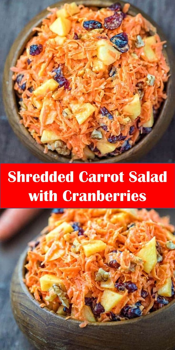 #Yummy #Shredded #Carrot #Salad #with #Cranberries