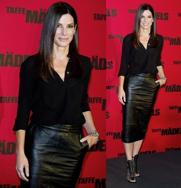 Sandra Bullock at a photo call for her film, 'The Heat, in Berlin, Germany on June 18, 2013