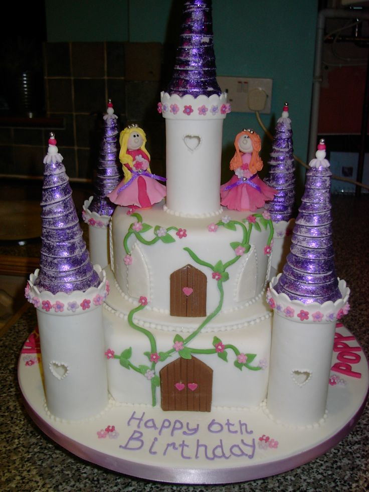 birthday cake for two little princesses
