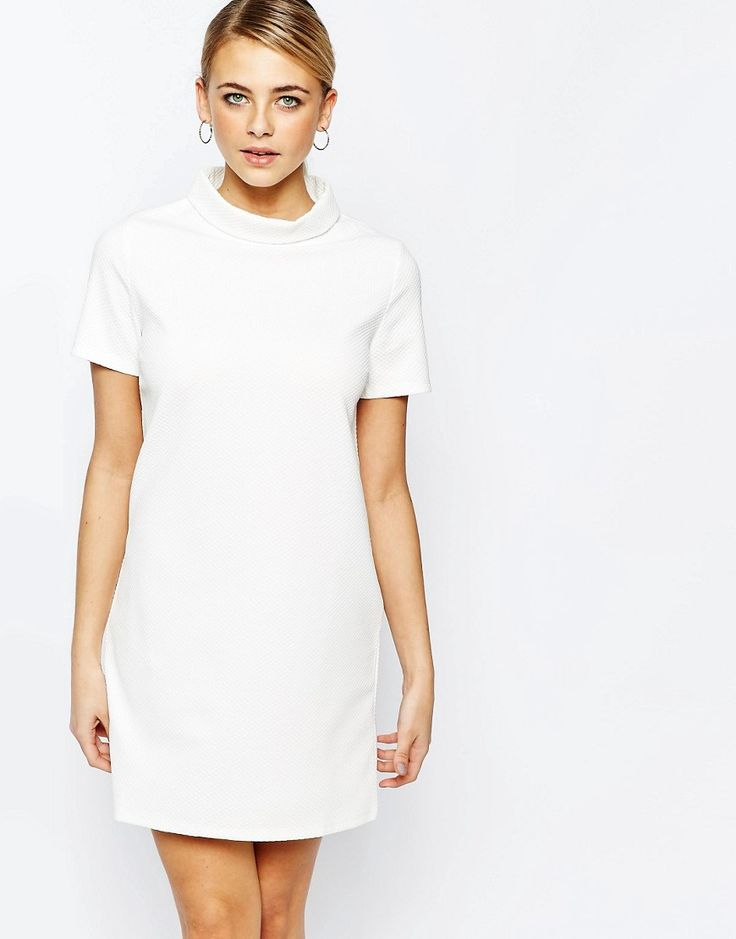 Fashion Union Textured T-Shirt Dress with Funnel Neck.  ASOS $41