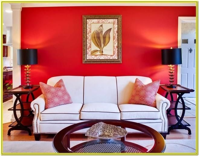 Red And Gold Living Room Decorating Ideas Living room decor in red