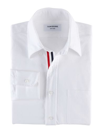 Fancy - Thom Browne : CLASSIC OXFORD BUTTON DOWN SHIRT WITH GROSGRAIN PLACKET - 6-MWL010AW5259