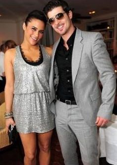 Adorable: Robin Thicke and wife Paula Patton