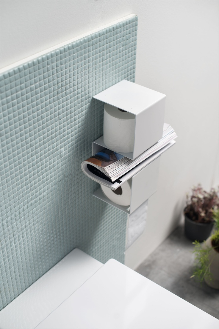 Shop for bathroom accessories - Inteam Is A Toilet Paper Holder Where Toilet Paper Toiletries And Magazines Find Their Place In The Upper Compartment You Can Stow One Extra Toilet Roll