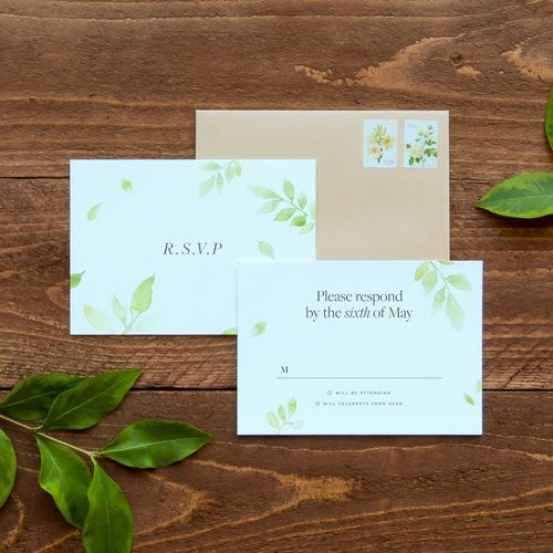Botanical Wedding Reply Card