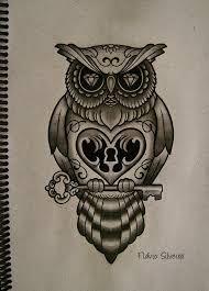 Resultado de imagen para tatuajes de buhos con calaveras significado