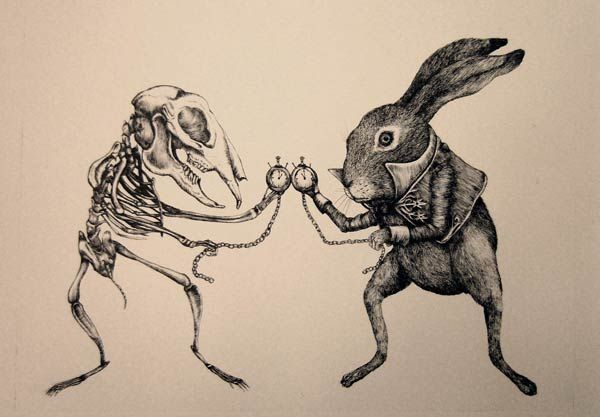 Clockwork rabbit.  Not quite what I had in mind for Jack Clocktail of 'The Reaper's Sow' story.