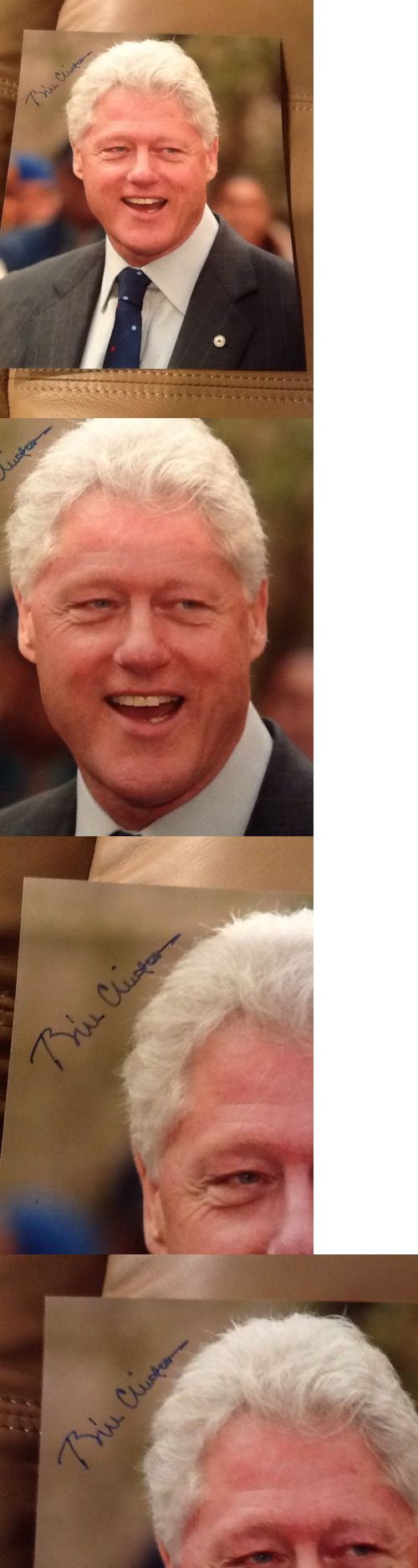 Bill Clinton: Bill Clinton Autographed Color Photo Democratic Us President 1992-2000 -> BUY IT NOW ONLY: $169.99 on eBay!