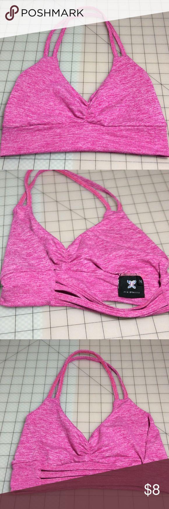 Mia Brazilian halter workout bra Fuchsia pink bra size M halter style Mia Brazilia Other