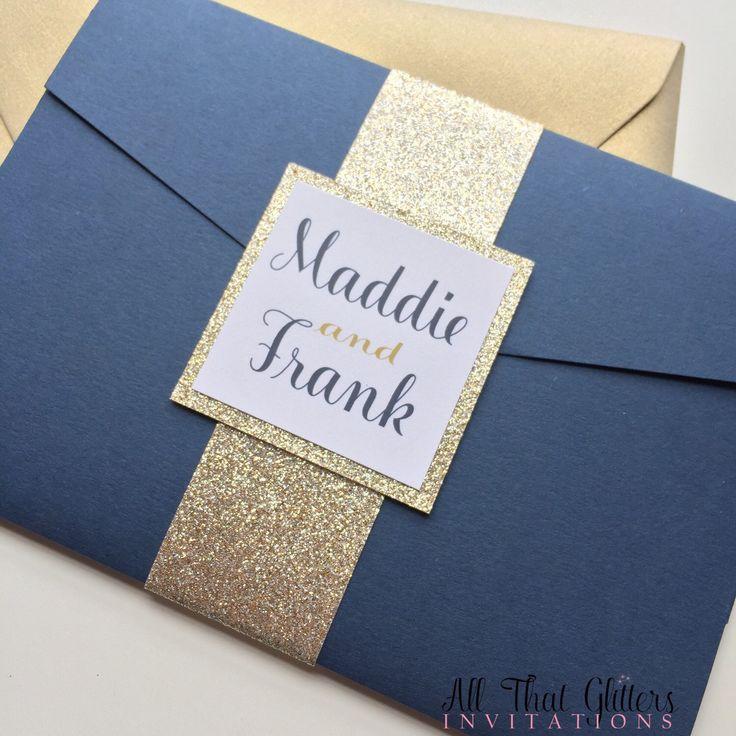 The 25 Best Glitter Wedding Invitations Ideas On Pinterest