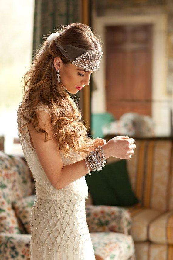 Venus - Aubade Crystal Headband #Vintage style www.finditforweddings.com