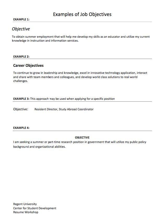 The 25+ best Resume career objective ideas on Pinterest Good - example of a resume for a job