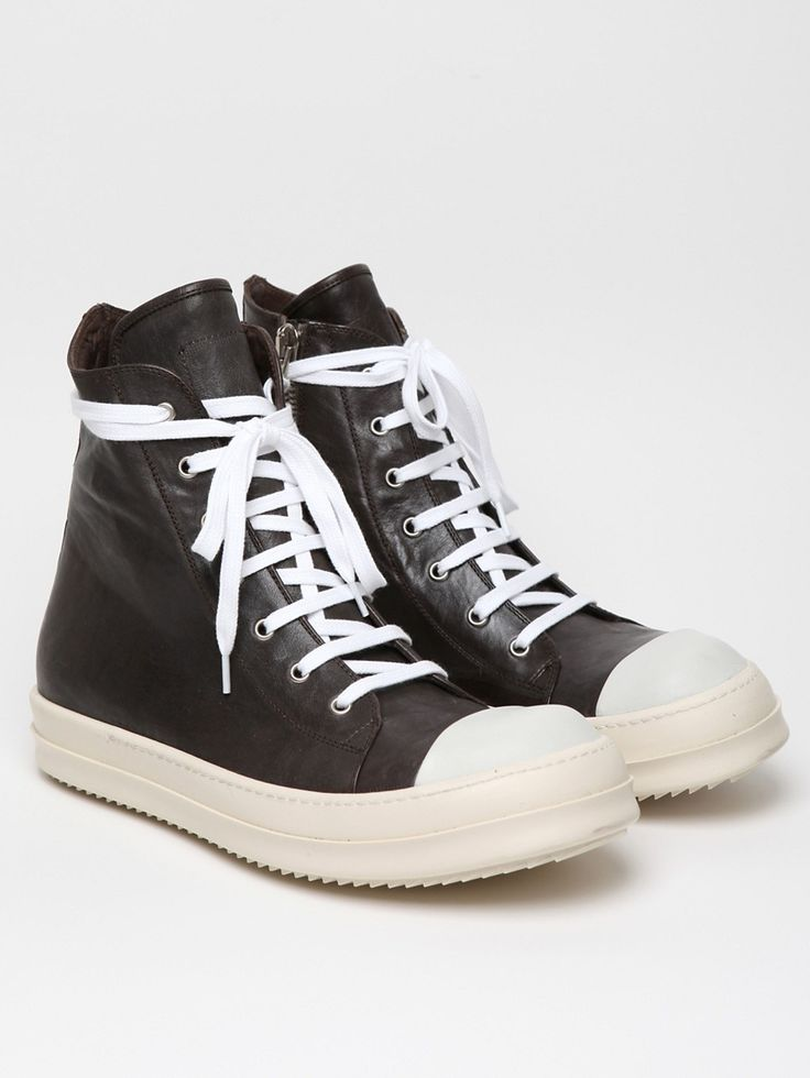 Rick Owens Men's Leather Sneaker