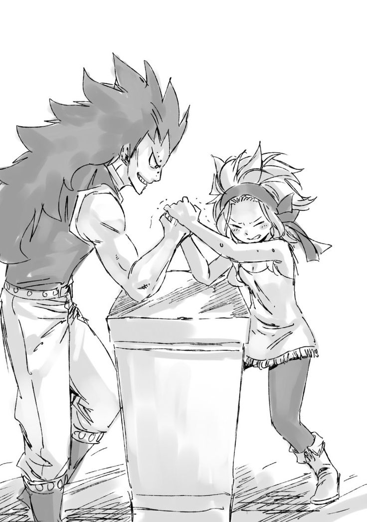 Hiro Mashima - Twitter - Fairy Tail - Gajeel and Levy <3!