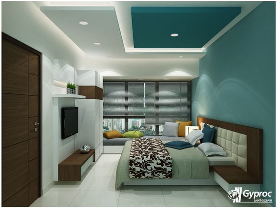 38 best bedroom false ceiling images on pinterest for Master bedroom ceiling designs
